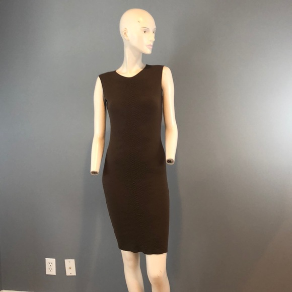 Akris Dresses & Skirts - NWT A-K-R-I-S Brown Body Con Midi Dress Sz 6